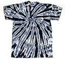 Custom Black Twist Tye Dye T-Shirt