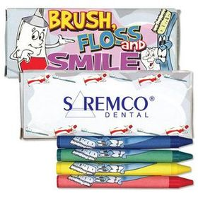 4 Pack Dental Theme Crayons, Price/piece