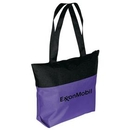 Custom Two Tone Zipper Tote Bag