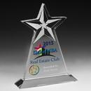 Custom Clear Vertical Star Award - Screen Print