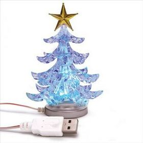 "Usb Desktop Christmas Tree, 2"" W X 2"" D X 5.3"" H, Price/piece"