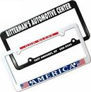 AAKRON Custom License Plate Frame With 2 Holes, 12 3/8