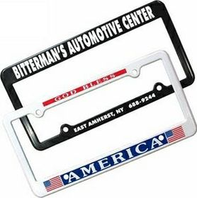 "AAKRON License Plate Frame With 2 Holes, 12 3/8"" W X 6 5/16"" H, Screen Printed, Price/piece"