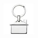 Custom Metal House Keychain ( screen printed ), 1 3/4