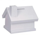 Custom Translucent White House Shape Savings Bank