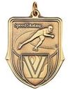 Custom 100 Series Stock Medal (Speed Skating) Gold, Silver, Bronze