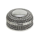 Custom Antique Silver Plated Round Dot Box
