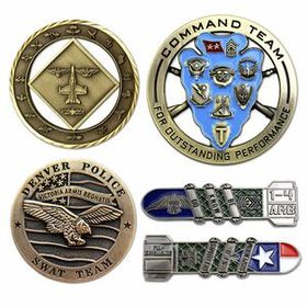 "Die Cast Zinc Challenge Coin (1-3/4""), Price/piece"
