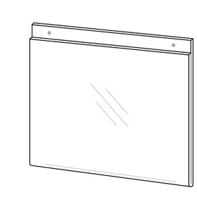 "Horizontal Top Loading Wall Poster Frame with Holes (11""x8 1/2""), Price/piece"