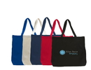 Custom Cotton Shopping / Beach Tote With Cotton Webbed Handles