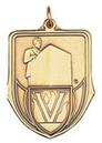 Custom 100 Series Stock Medal (Speaker) Gold, Silver, Bronze