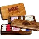 Custom Wood Domino & Dice Game Box