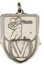 Custom 100 Series Stock Medal (Female Tennis Player) Gold, Silver, Bronze