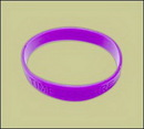 Custom Debossed Silicone Rubber Bracelet