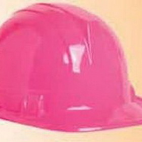 Pink Plastic Costume Quality Hard Hat, Price/piece