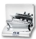 Custom Chrome Metal Cruise Ship Business Card Holder