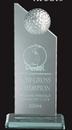 Custom Small Jade Glass Golf Pinnacle Award