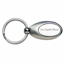 Custom 2 Tone Oval Metal Keyring