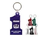 Custom Number One Key Fob Keychain (1 5/8