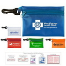 Custom Take-A-Long First Aid Kit #2 w/ Translucent Vinyl Zipper Pouch