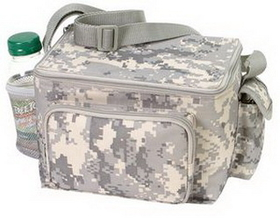 Digital Camouflage 6 Pack Cooler with Phone Pouch & Mesh Bottle Holder, Price/piece