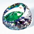 Custom Gem Cut Crystal Paperweight - Color Coated, 3