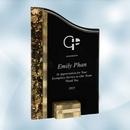 Custom SunRay Gold / Black Acrylic Award - Large, 10
