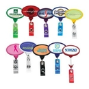 Custom Jumbo Oval Translucent Retractable Badge Reel (Chroma Digital Direct Print), 2.13