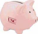 Custom Pink Ceramic Awareness Piggy Bank - Pink, 3 3/4