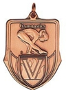 Custom 100 Series Stock Medal (Female Gymnastics) Gold, Silver, Bronze