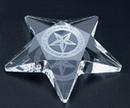 Custom Pentagon Star Paperweight - Optic Crystal