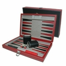 Custom Leatherette Backgammon Set- Small (Screened)