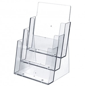 Large 3 Pocket Slant Back Brochure Holder, Price/piece