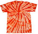 Blank Orange Twist Tye Dye T-Shirt