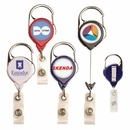 Custom Carabiner Retractable Badge Reel w/ Belt Clip (Pad Print)