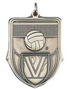 Custom 100 Series Stock Medal (Volleyball) Gold, Silver, Bronze
