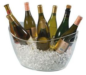 Colossus 8 Bottle Clear Acrylic Oval Bucket (Laser Engraved), Price/piece
