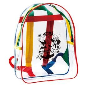 "Bazaarline Kids Clear Vinyl Backpack, 12.5"" W X 10"" H X 4"" D, Price/piece"