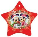 Custom (Single Side) Ceramic Tree Ornament Star, 3.125