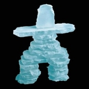 Custom Frosted Inukshuk Sculpture (12