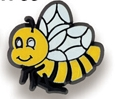Bumble Bee Stock Design Plastic Lapel Pin