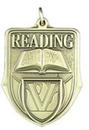 Custom 100 Series Stock Medal (Reading) Gold, Silver, Bronze