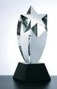 Custom Rising Star Award on Black Square Base - Optic Crystal