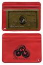 "Royal Custom Waterproof Zip Lock Wallet / Without Key Chain, Hot/Foil Stamped, 4"" L X 3"" W"