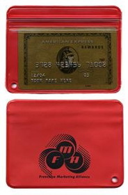 "Royal Waterproof Zip Lock Wallet / Without Key Chain, Hot/Foil Stamped, 4"" L X 3"" W, Price/piece"