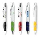 Custom Metal Collection Retractable Aluminum Ballpoint Pen w/ Shinny Chrome Accent