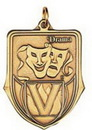 Custom 100 Series Stock Medal (Drama) Gold, Silver, Bronze
