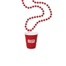 Custom Red Cup Shot Glass on Beads, 33