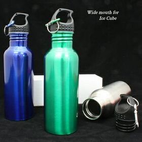 22 Oz Wide Mouth Stainless Bottle (Screened), Price/piece