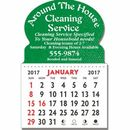 Custom Oval Top Kwik-Stik Textured Vinyl Calendar - 13 Month (3